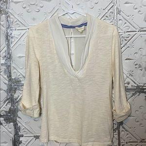 Deletta cream colored blouse